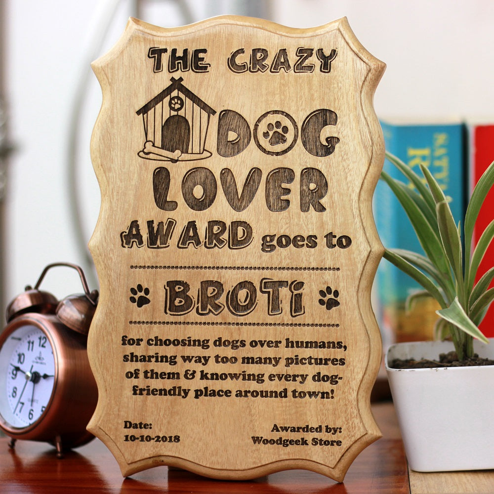 gifts for dog lovers - dog themed gifts - certificates- gifts for animal lovers - animal lover certificate -personalised gifts for dog lovers- birthday gifts ideas - Woodgeek Store