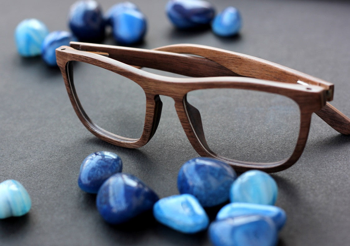 The Entrepreneur - wooden rectangle spectacle frames - Woodgeek Store