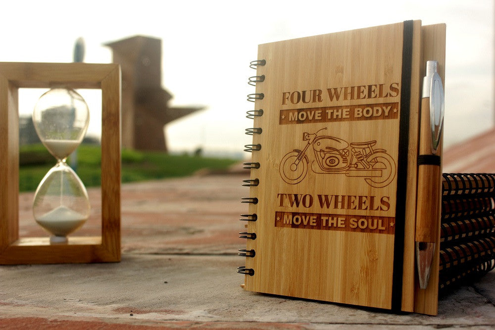 Four Wheels Move The Body, Two Wheels Move The Soul - Travel Journal - Woodgeek Store