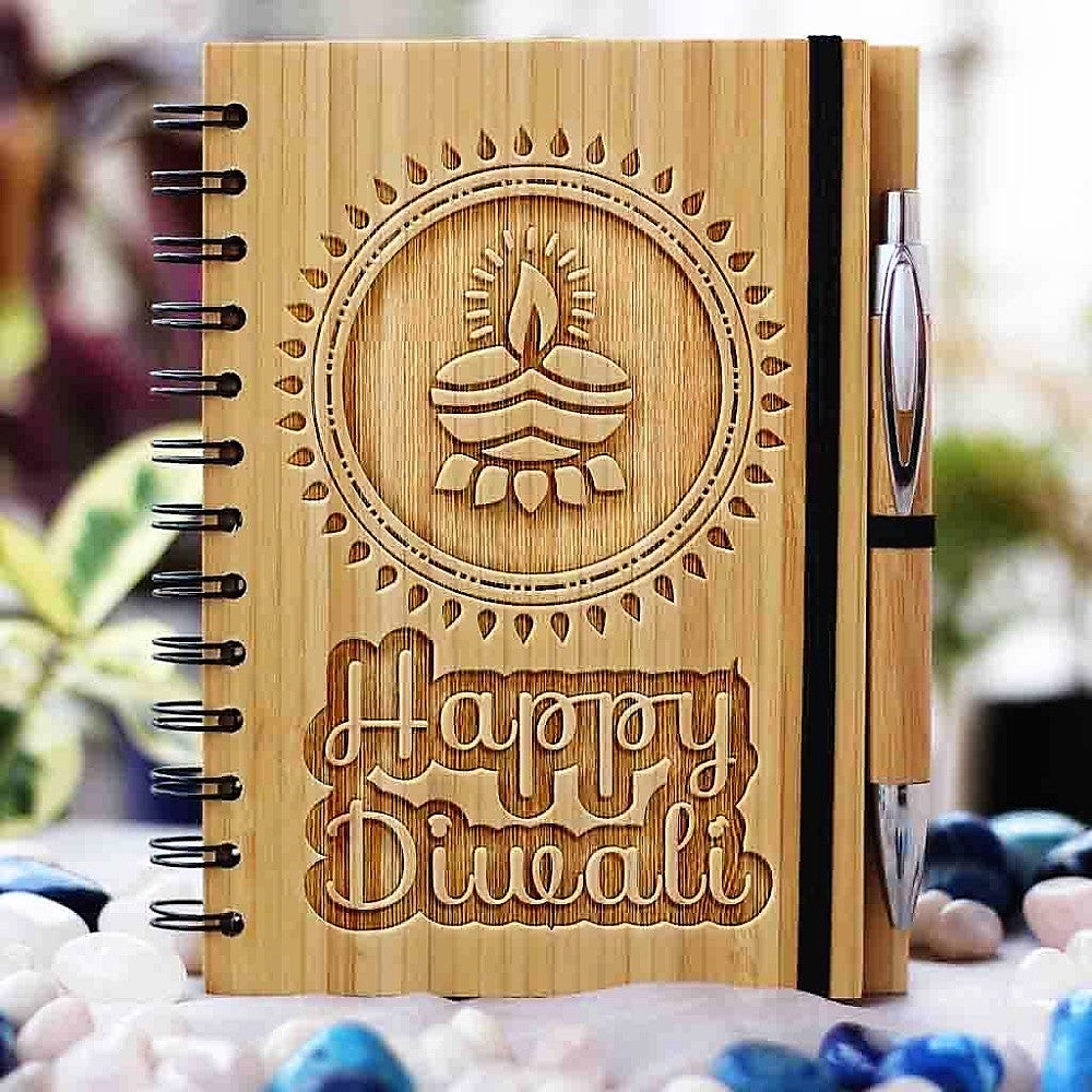 Wooden Notebooks- Auspicious Diwali Gifts- Best Diwali Gifts- Diwali Gifts for Clients-Woodgeek Store