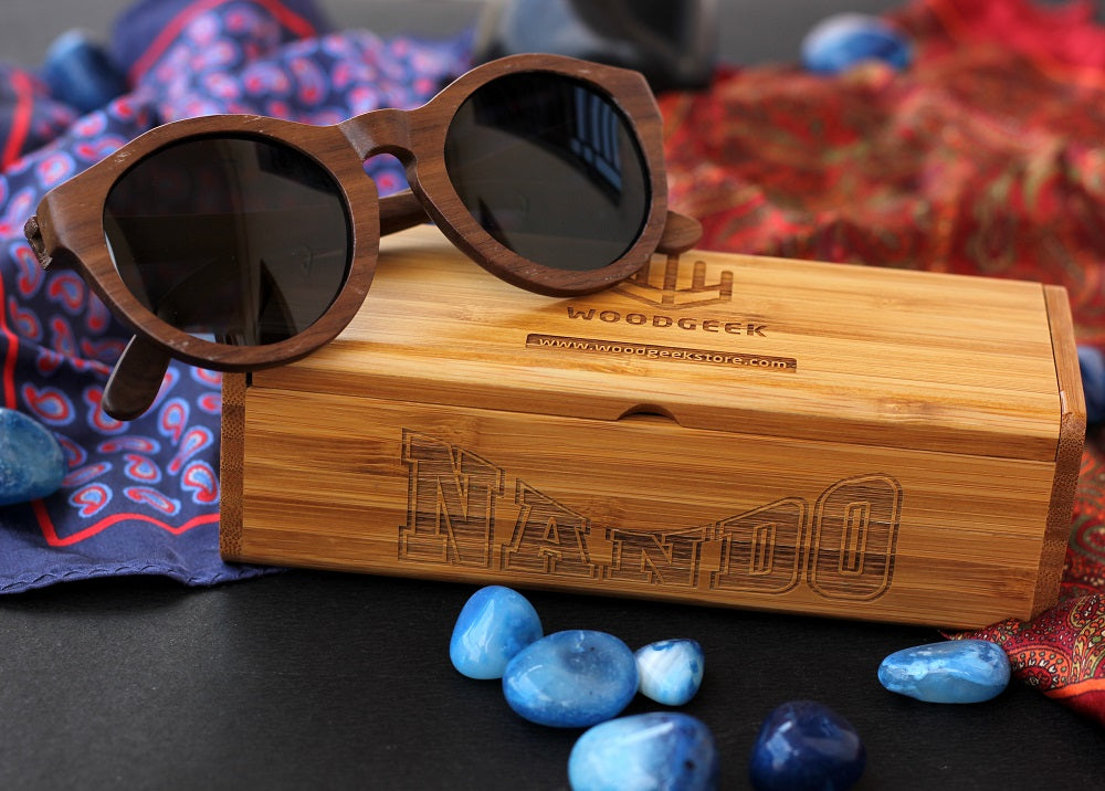 Hipster wooden suglasses- Birthday Gift idea for friends - Round Sunglasses - Woodgeek Store