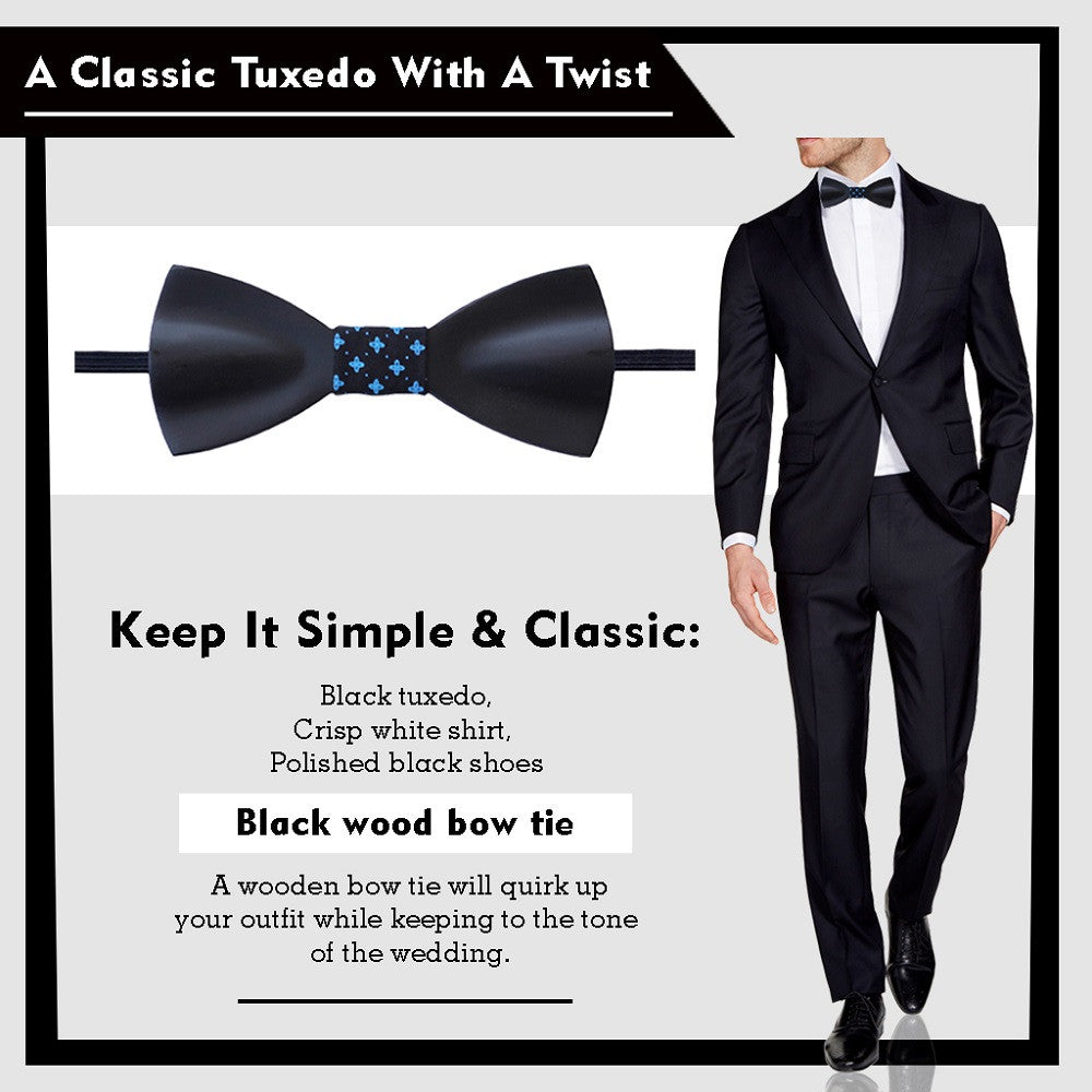 How To Wear A Wooden Bow Tie At A Wedding  Groomsmen's Bow Ties  Groom's