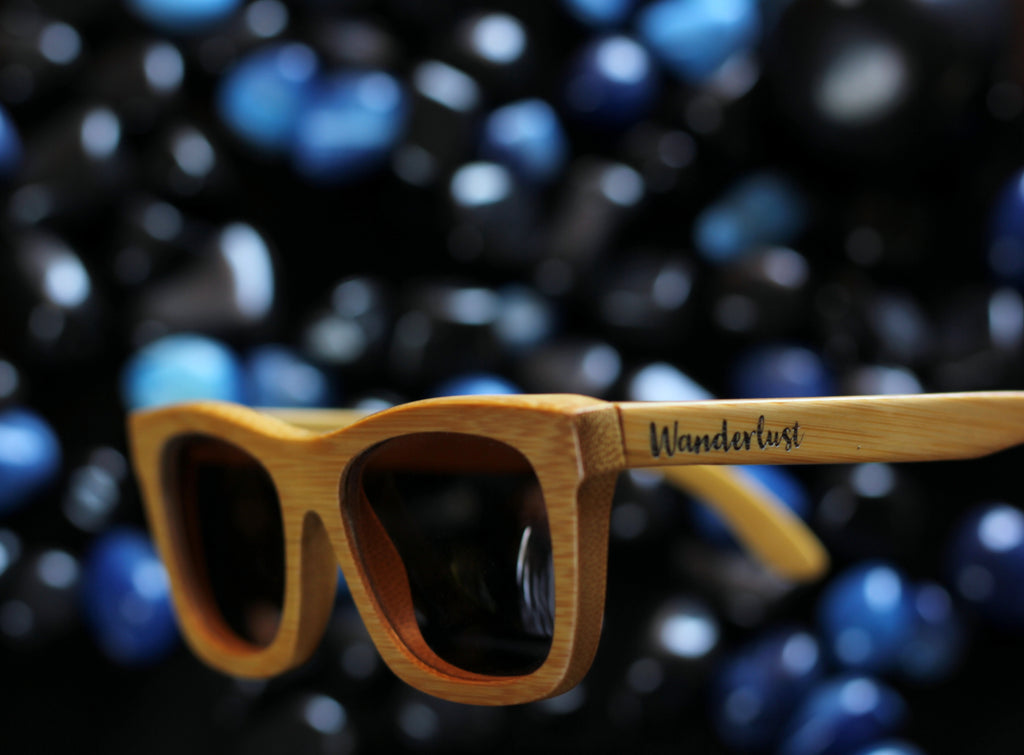 Customized engraved bamboo sunglasses- Wanderlust - Woodgeek Store