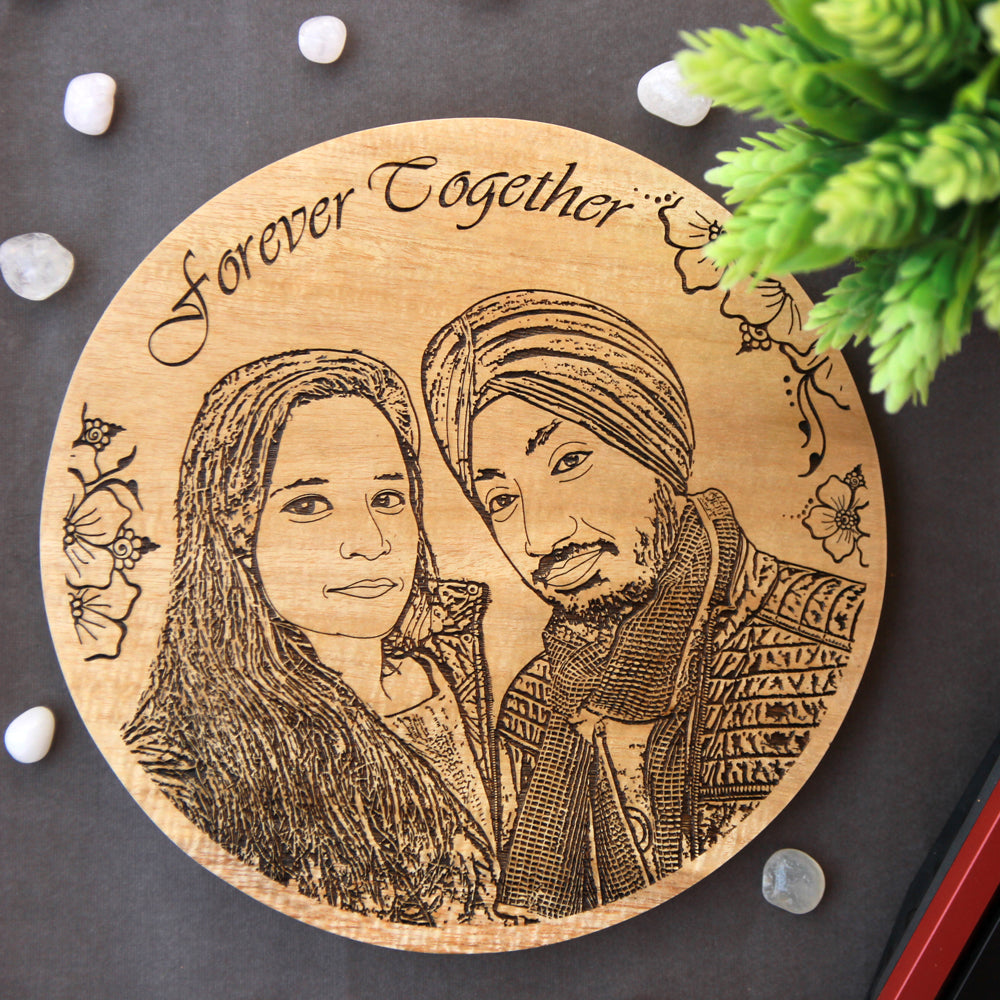 Customize Your Own Circular Wooden Poster - Good Gifts For Couples - Unique Couple Gifts - His And Hers Gifts - Posters Online - Wood Poster - Custom Wood Posters - Engraved Wooden Poster - Wood Products Online - Woodgeek - Woodgeekstore