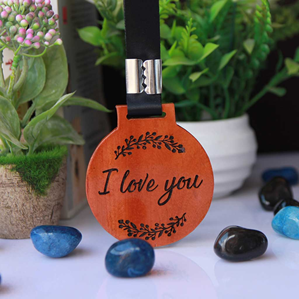 Customized 'I Love You' Engraved Wooden Medal - This Unique Medal Makes An Affordable Gift For Mother's Day - Shop For More Unique Mother's Day Gifts From The Woodgeek Store