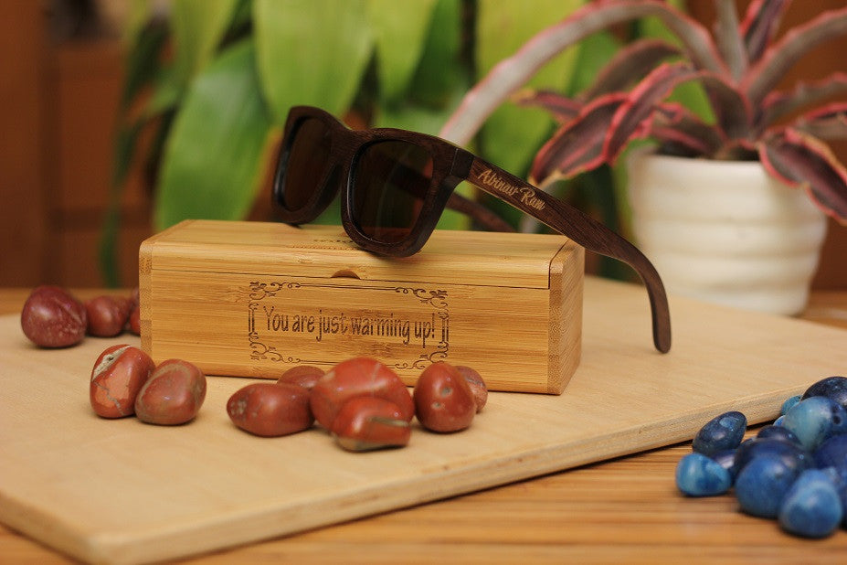 The Journeyman Square Sunglasses - Wooden Personalised Sunglasses - Woodgeek Store