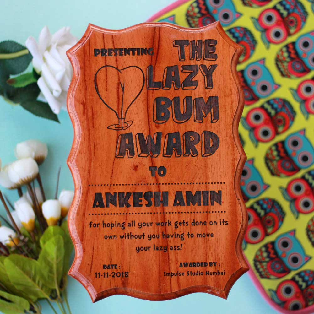 And The Award Goes to    | Fun Certificates Made Of Wood