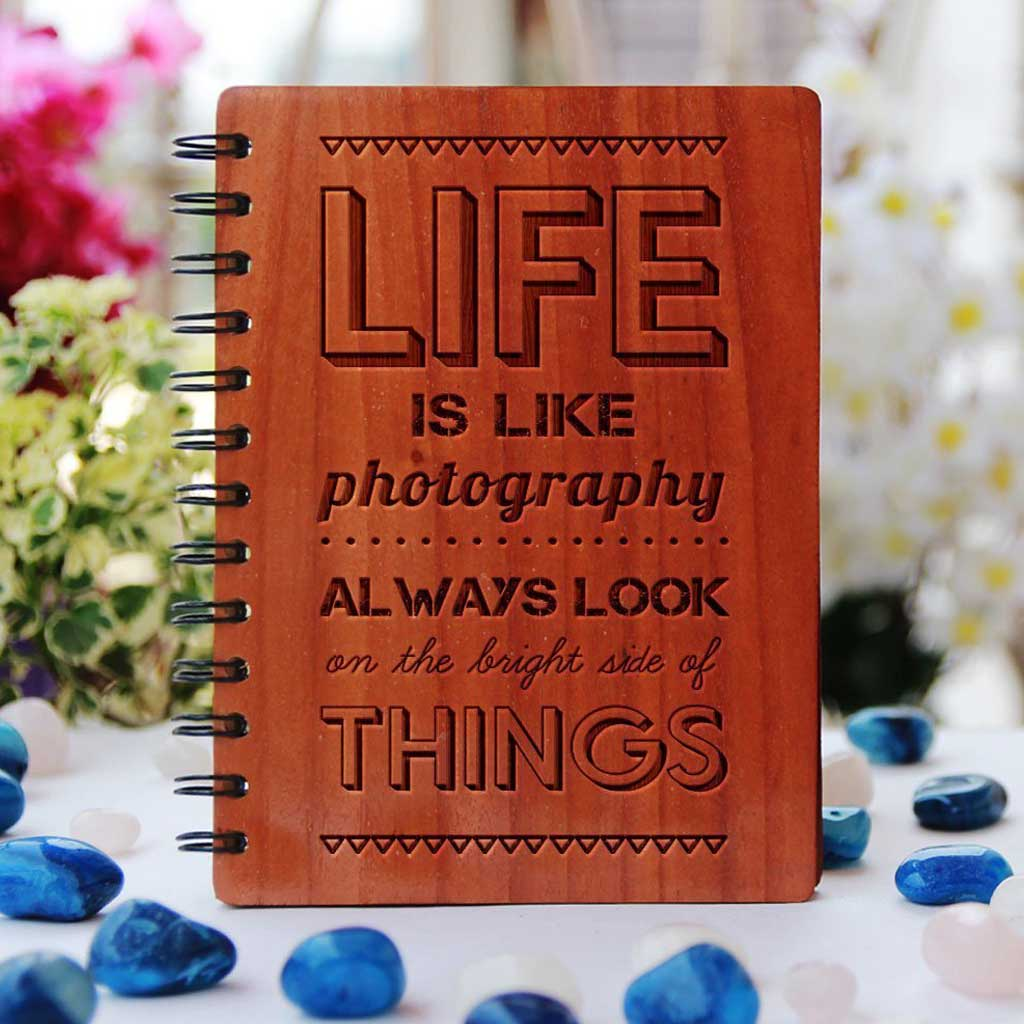 Customized Photo Journal - Personalized Mother's day Gifts - Customized Notebooks - Woodgeek Store