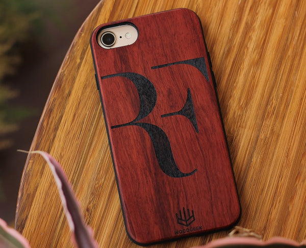 Logo engraved wooden iPhone case - Woodgeek Store