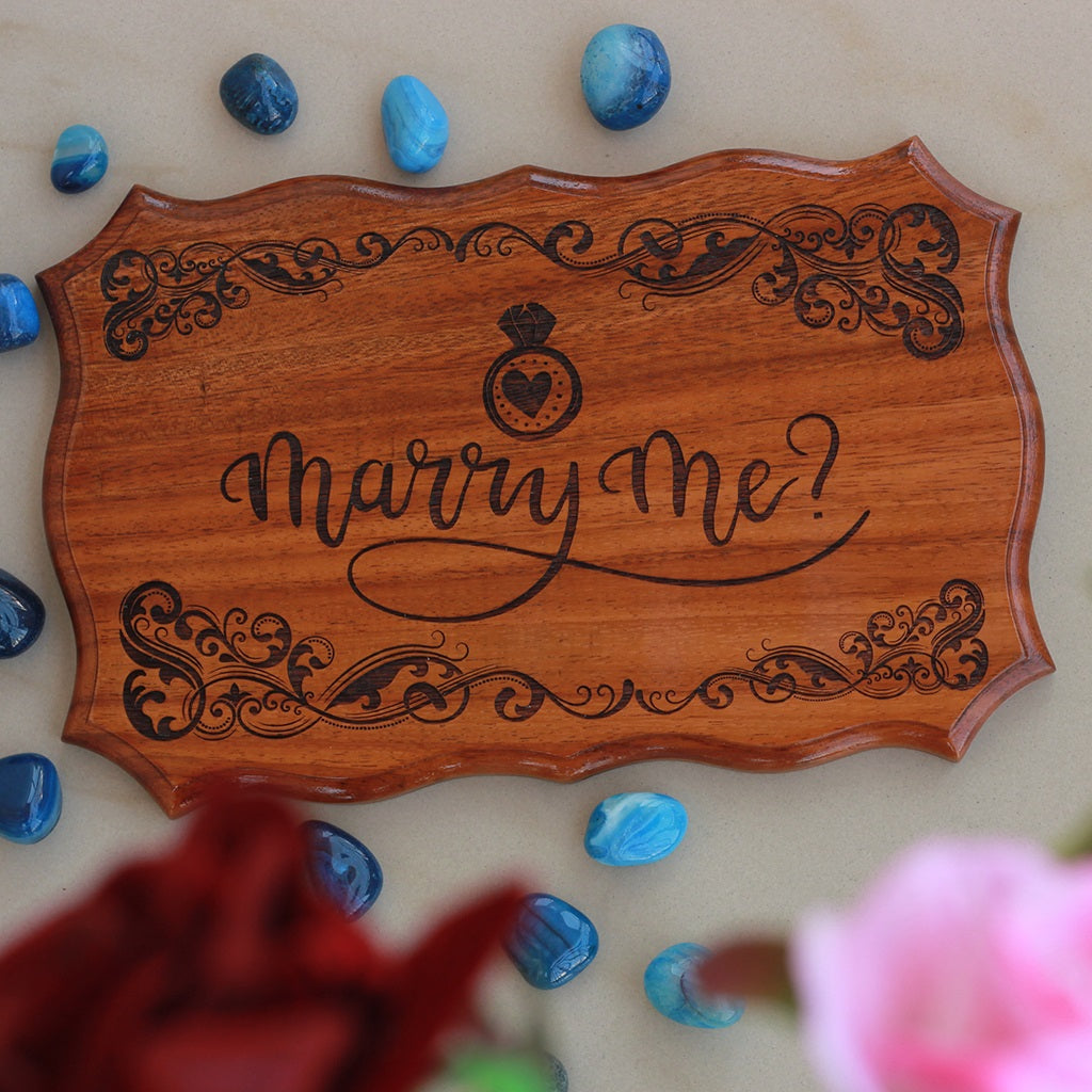 Will You Marry Me Signs for Proposal - Marry Me Wedding Decor by Woodgeek Store