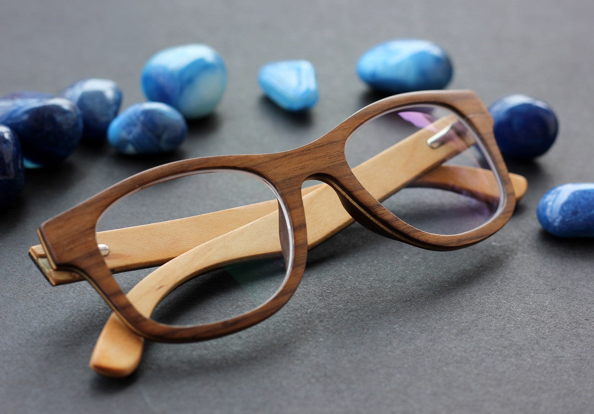 The Minimalist - Wooden spectacle frames - Square Glasses from Woodgeek Store