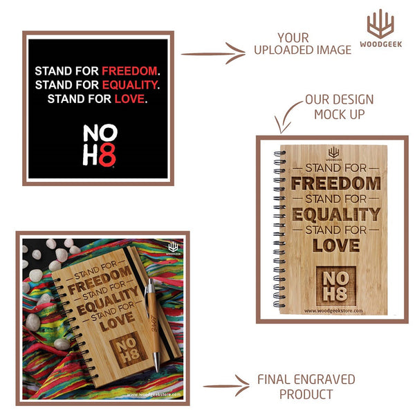make your own personalised wooden notebook woodgeek
