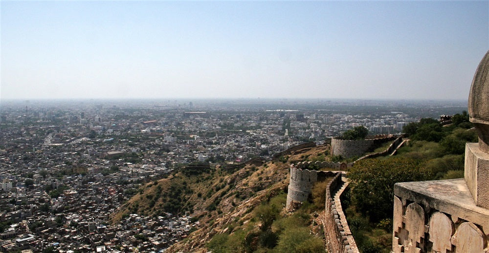 View of Jaipur City from Nahargarh Fort - India's Golden Triangle Travel - Woodgeek Store