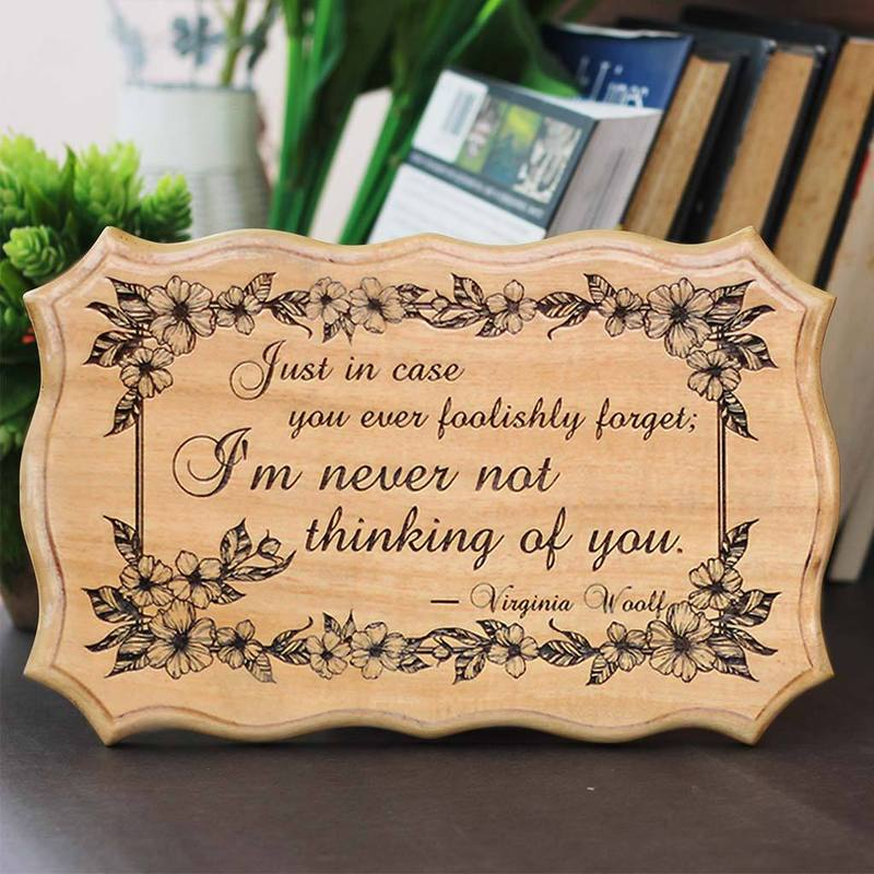 I Am Never Not Thinking Of You Wood Sign - Wood Carved Signs - Engraved Wood Sign - Cute Valentine's Day Gift - Best Love Gifts - Custom Gift - Woodgeek - Woodgeekstore