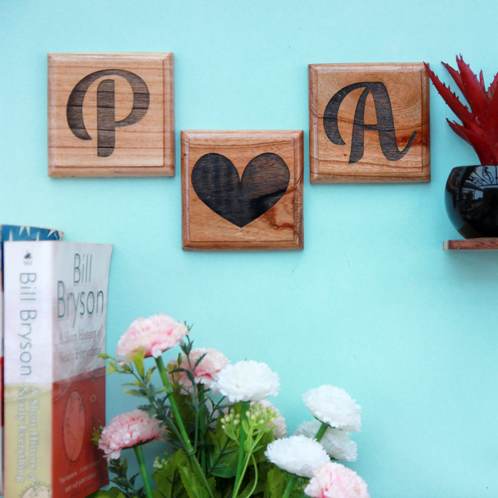 Couple Initials Wooden Crossword - Wooden Letter Tiles - Letter Squares - Crossword Wall Art - Wood Letter Decor - Decorative Letter Tiles - Rustic Wall Art - Home Decor Ideas - Best Home Decor - Wood Wall Art Decor - Woodgeek Store