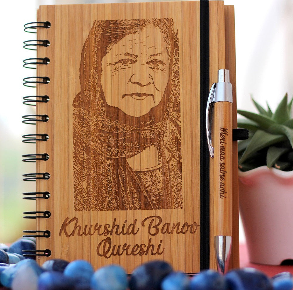 Personalized Mother's Day Gifts - Writers Journal - Wooden Notebook - Woodgeek Store