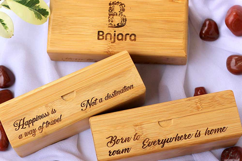 Custom Wooden Boxes As Personalized Corporate Gifts For Banjara Ventures Pvt. Ltd. Best Corporate Gifts for Employees and Promotional gifts for clients