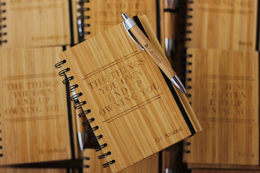 Personalised Corporate Gifts - business promotional items - unique corporate gifts - custom notebooks - Woodgeek Store