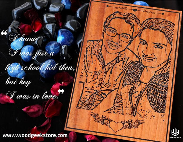 Personalized Wooden cards from Woodgeek Store