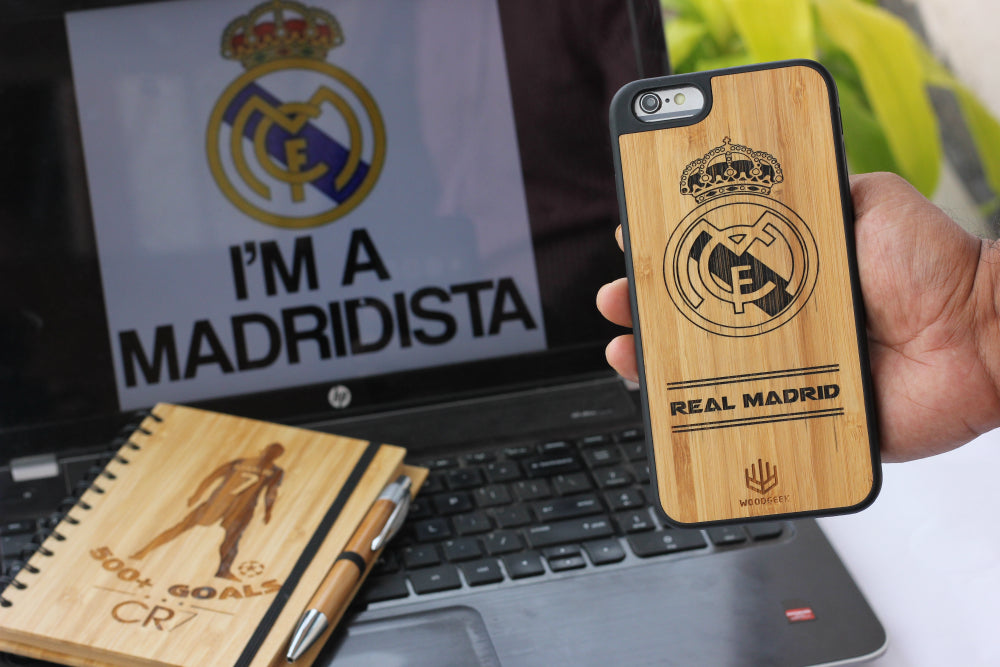 Wooden phone case and notebook for every football lover - Woodgeek Store