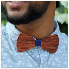 Butterfly Shaped Bow Tie Made of Rosewood - Wooden Bow tie - Red Bow tie - Woodgeek.JPG