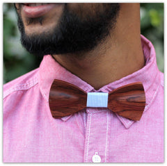 Rosewood Bow Tie - Red Bow Tie - Wooden Bow Tie - Woodgeek Store