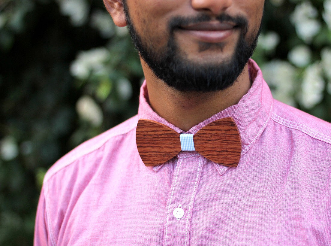 Custom Wooden Bowties personalized with your name, initials or any text - Woodgeek Store