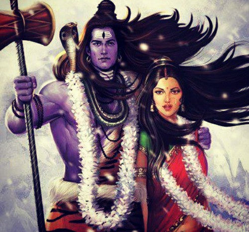 Lord Shiva - Shiva Parvati Marriage - Love Story - Hindu Mythology Gods - Woodgeek - Woodgeekstore