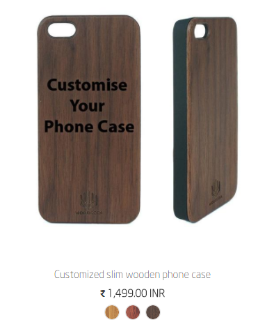 Customize your own phone case - Wooden Phone case - Personalized Phone case - Buy Customized phone case in India - Woodgeek Store