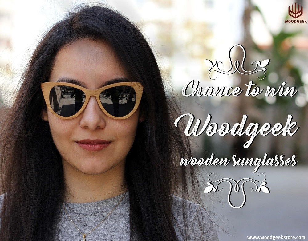 Win Woodgeek Personalized Wooden Sunglasses - Woodgeek Contest