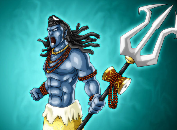 Lord Shiva - Shiva - Hindu God - Lord Shiva Images - Lord Shiva With 6 Pack Abs - Shiva God - Woodgeek - Woodgeekstore