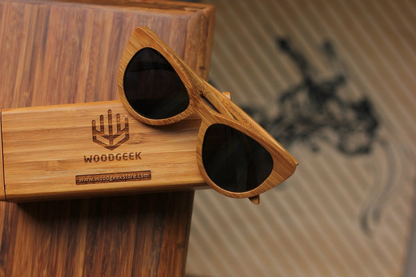 The Librarian Cateye Sunglasses - Personalised Wooden Sunglasses - Woodgeek Store