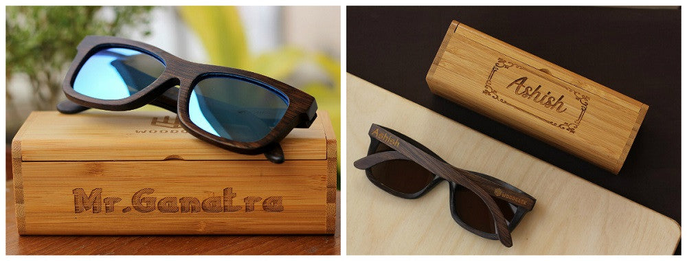 The Journeyman personalized wooden sunglasses - Woodgeek Store