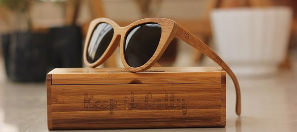 The Librarian Cateye Sunglasses - Wooden Personalised Sunglasses - Woodgeek Store