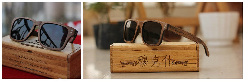 The Navigator Personalized Wooden Sunglasses from Woodgeek Store