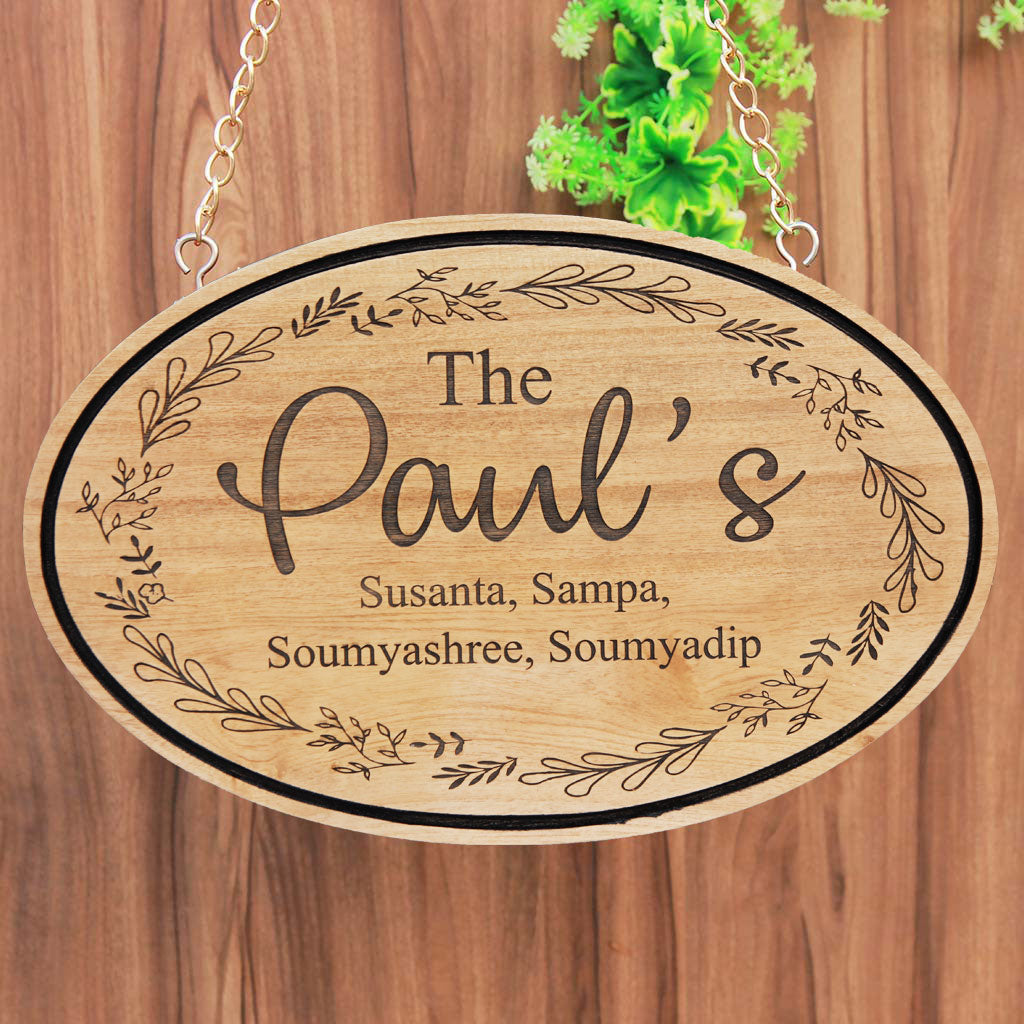 Personalized Wood Family Signs - Family Signs For Home - Family Name Signs - Last Name Signs - Family Wood Sign Home Decor - Wooden House Signs - Home Decor Gifts - Best Home Decor - Engraved Name Plates - Custom Wood Signs - Special Gifts For Family - Wooden Name Plaques - Woodgeek Store