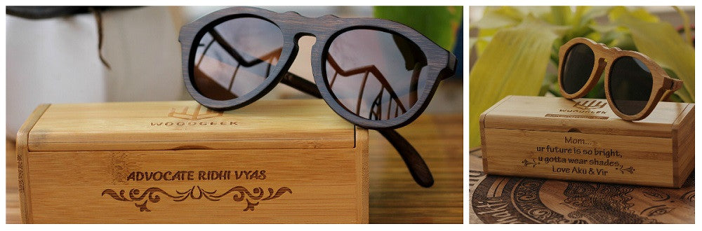 The Retro Personalized Round Wooden Sunglasses - Woodgeek Store