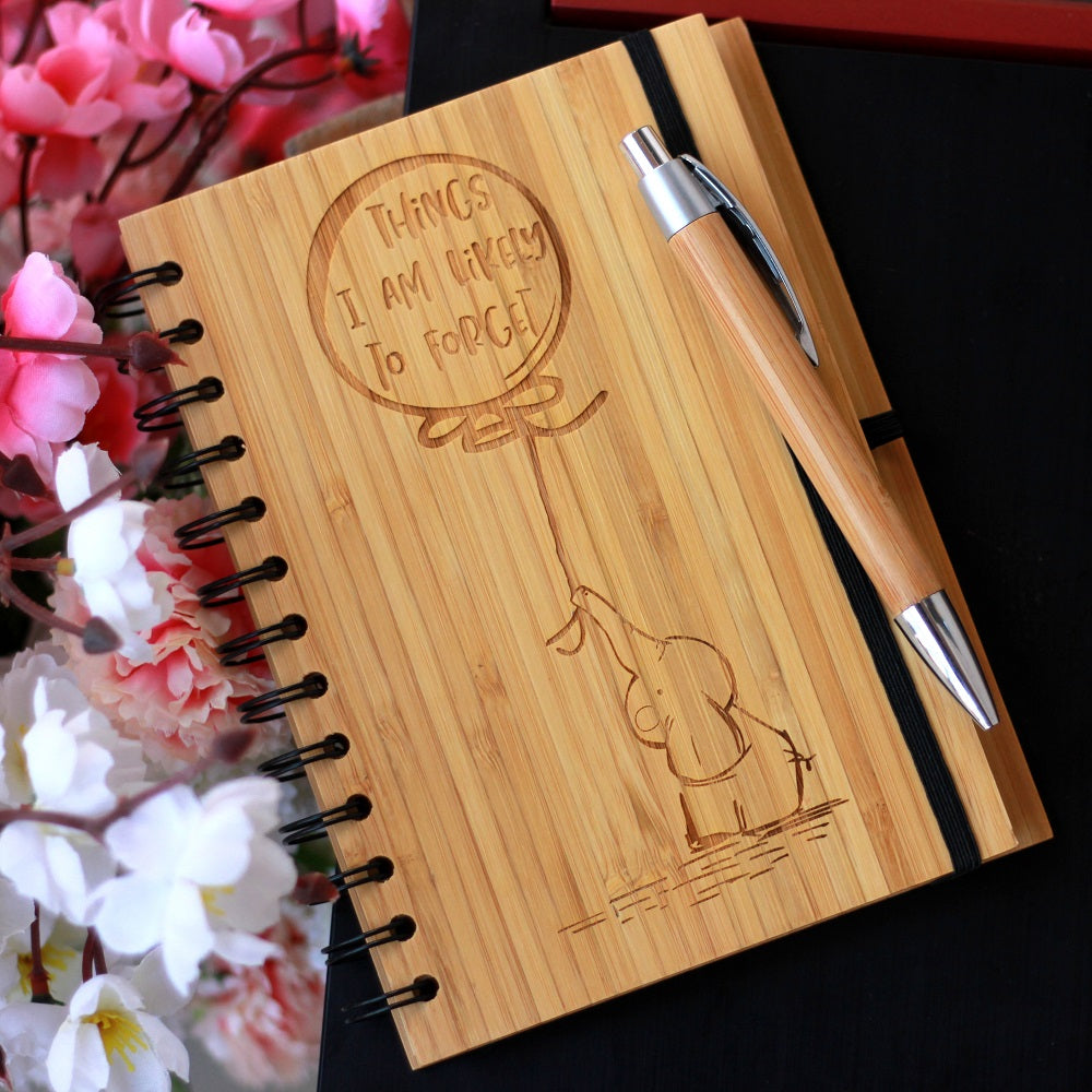 Things I Am Likely To Forget - This Spiral Bound To Do List Notebook Is A Funny Gift For Person Who Loses Everything - This Wood Bound Journal Is A Funny Gift For A Forgetful Person - Woodgeek Store