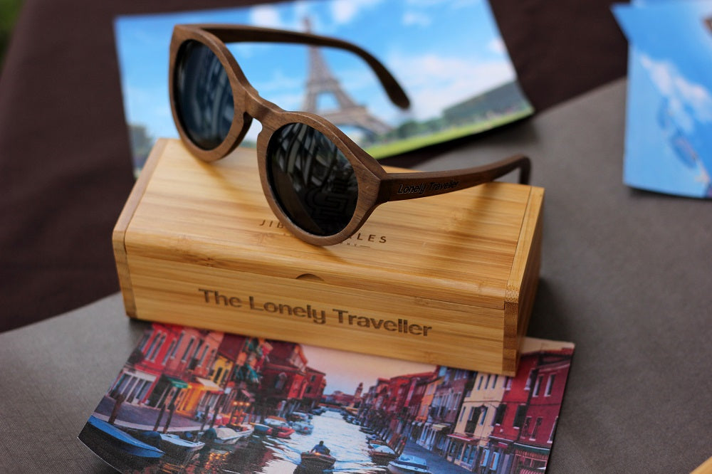 Wooden Sunglasses with polarized and UV protected lenses - Personalized Sunglasses - Travel Sunglasses by Woodgeek Store