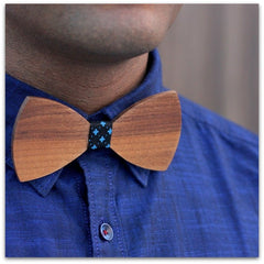 Wooden Bow Tie - Brown Bow Tie - Butterfly Shaped Bow Tie - Woodgeek Store