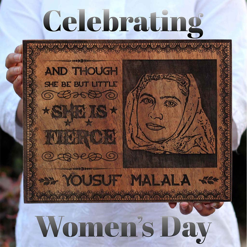 Woman's Day - Malala wall Art - Woodgeek Store