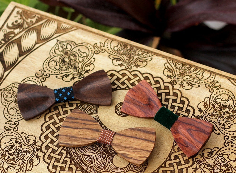 Wooden Bow Ties for Men & Women - Cool Bow Ties - Woodgeek Store