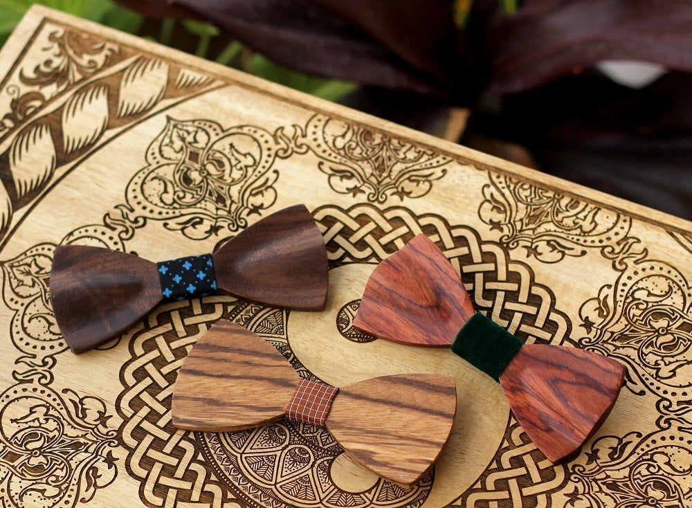 Wooden Bow ties - small gifts for sagittarius - wooden bow tie - wooden necktie - bow tie made of wood - birthday gift - Sagittarius Zodiac - best friend gifts - sagittarius birthday gifts - woodgeekstore