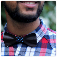 Black Bow Tie - Wooden Bow Tie - Classic Bow Tie - Woodgeek Store