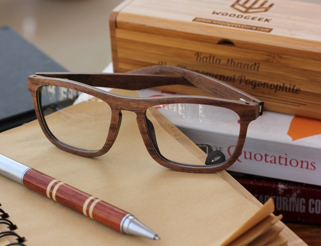 the entrepreneur glasses custom wood frame glasses woodgeek store - Wood Frame Glasses