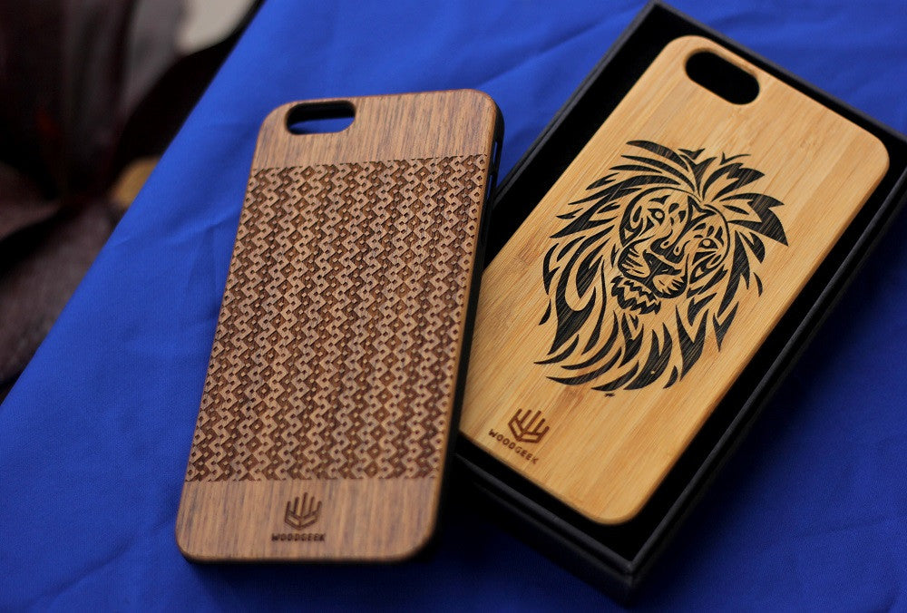 Engraved Wooden Phone Cases for Dad - Coolest Father's day Gifts - Woodgeek Store