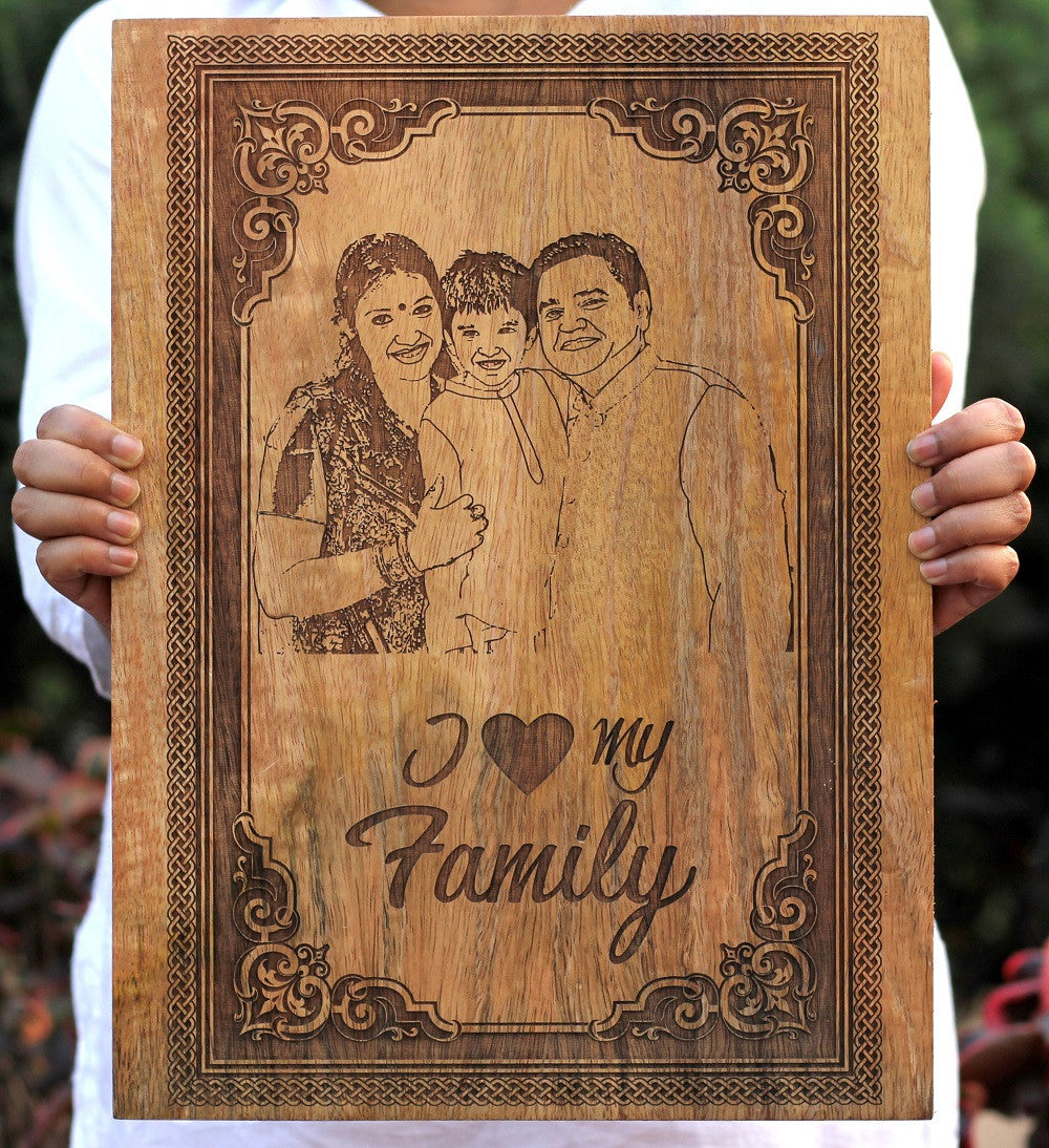 Personalised Photo Gifts - Custom Engraved Wall Art with Photo - Woodgeek Store