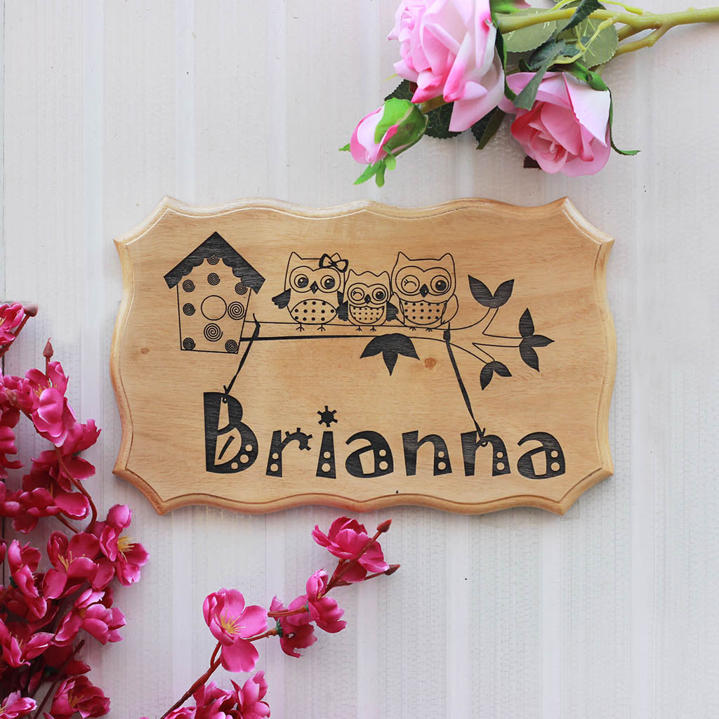 Wooden Name Signs for Baby Room and Nursery - Wooden Nursery Decoration by Woodgeek Store