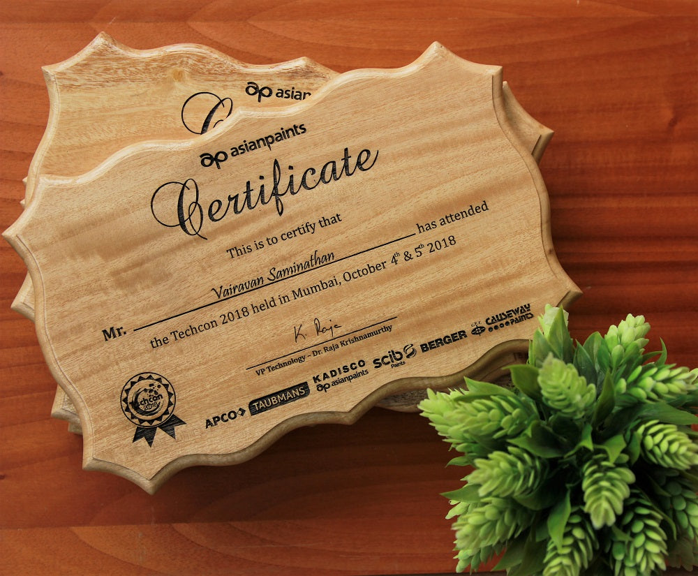 Certificate of Appreciation - custom award certificates - Create your own certificate - Woodgeek Store