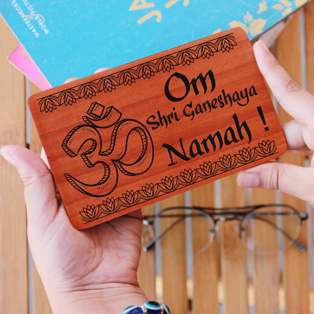Wooden Greeting Cards For Ganesh Chaturthi. These Personalized Cards Of Wood are great Ganesh Chaturthi gift ideas. Send wishes and greetings with these wooden cards online. Shop More Ganesh Chaturthi Gifts Online From Woodgeek Store.